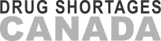 Canadian Drug Shortages Logo